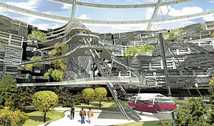 Eco-City 2020, constructed inside Siberia's abandoned Mir ...